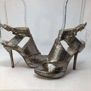 SITC Dior Metallic Exotic Python Extreme Sandals